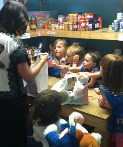 Girl Scouts volunteer at HRFP