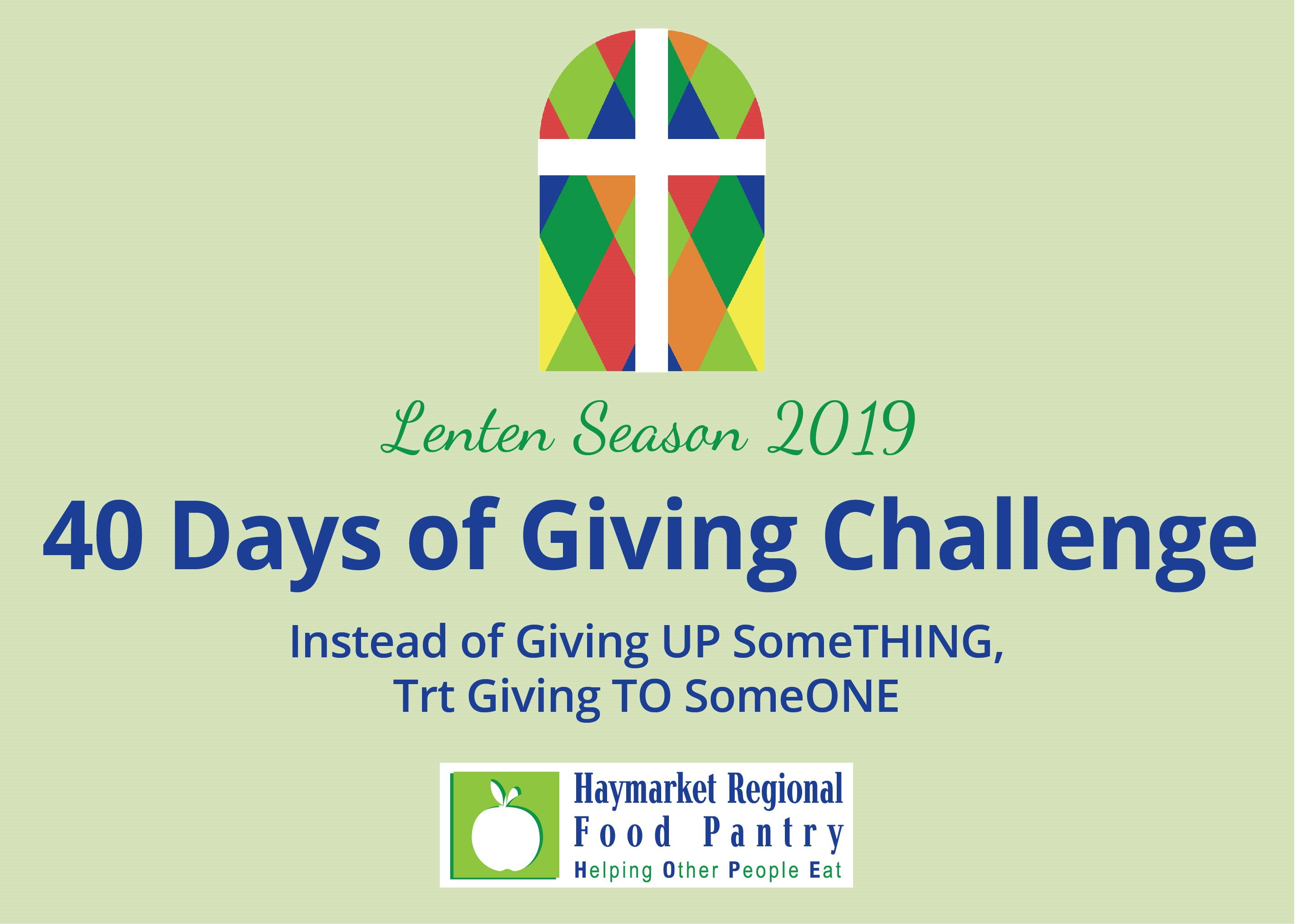 40 Days of Giving: Lenten Challenge 2019
