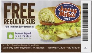 Free Regular Sub with HRFP Donation
