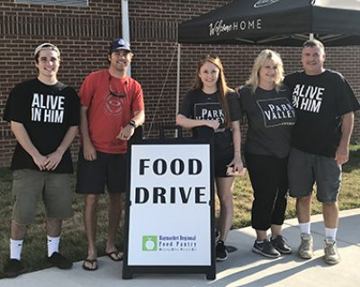 Park Valley Church Food Drive Feature Photo