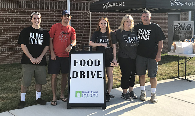 Park Valley Church Food Drive Volunteers
